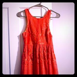 Coral Free People mini dress